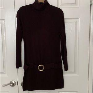 iNC Brown Long Sleeve Tunic Sweater